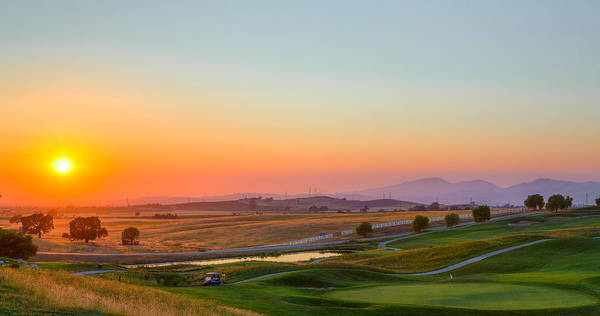 Outstanding Photograph - Sunset On The Greens by Mike Lee