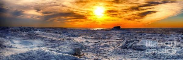 Photograph - Sunset On The Ice by Nick Zelinsky