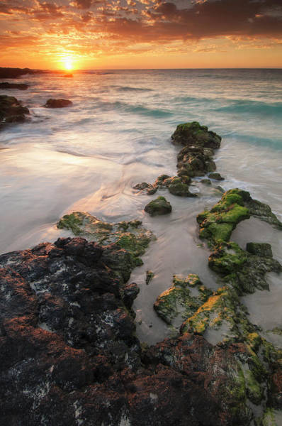Wall Art - Photograph - Sunset On The Kona-kailoa Coast by Carl Johnson