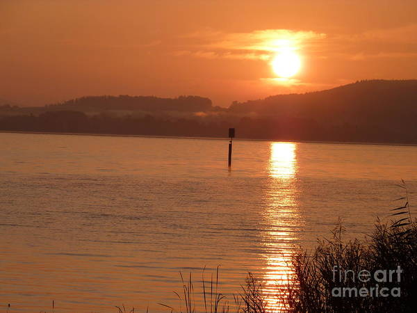 Photograph - Sunset On The Lake by Eva-Maria Di Bella