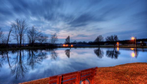 Photograph - Sunset On The Pond by David Dufresne