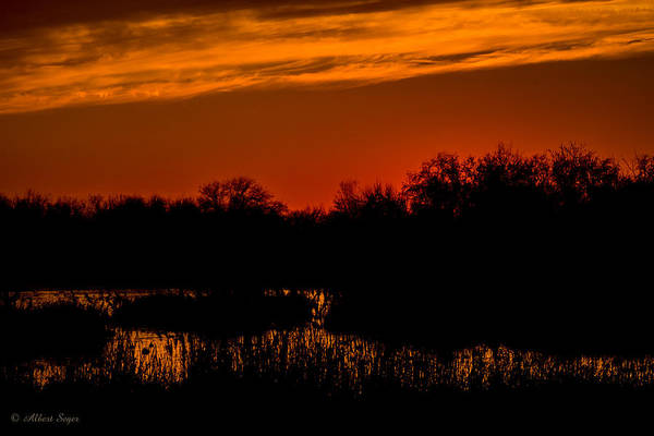 Photograph - Sunset On The Refuge  -  150218a-197 by Albert Seger