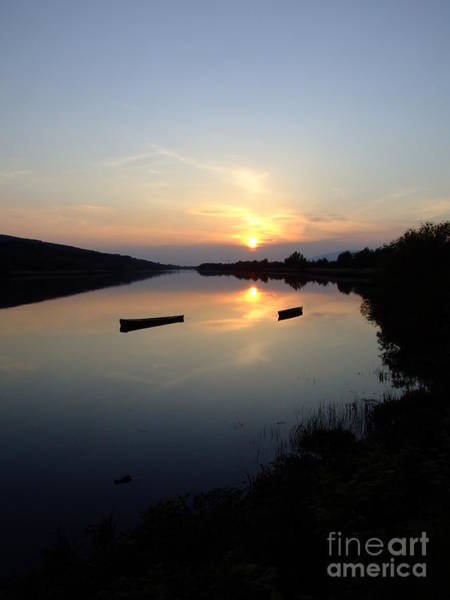 Suir Photograph - Sunset On The River Suir by Joe Cashin