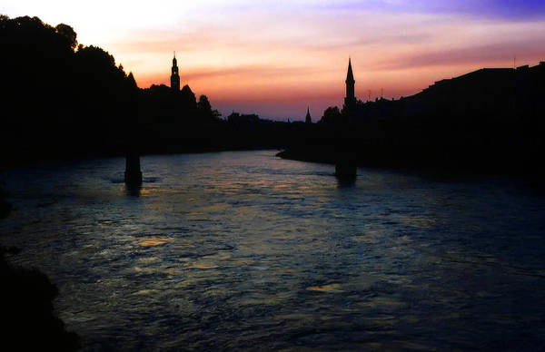 Photograph - Sunset On The Salzach by KG Thienemann