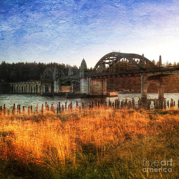 Photograph - Sunset On The Siuslaw River by Charlene Mitchell