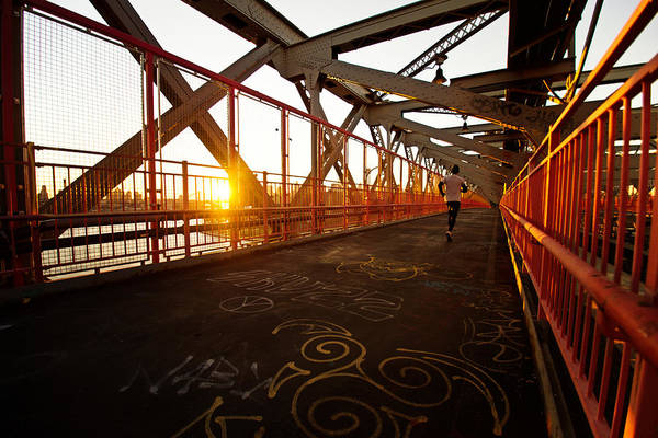 Williamsburg Photograph - Sunset On The Williamsburg Bridge - New York City by Vivienne Gucwa