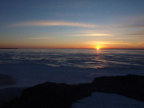 Photograph - Sunset Over A Frozen Lake Erie - 4 by Jeffrey Peterson