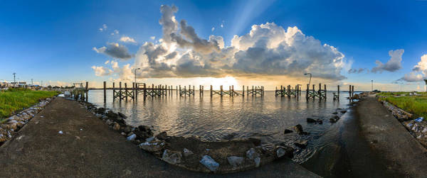 Wall Art - Photograph - Sunset Over A Lake, Lake Pontchartrain by Panoramic Images