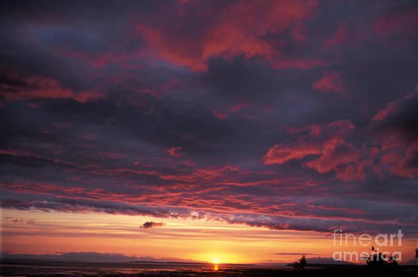 Sunset Over Alaska Art Print
