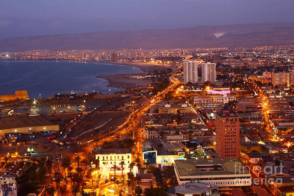 Arica Photograph - Sunset Over Arica Chile by James Brunker