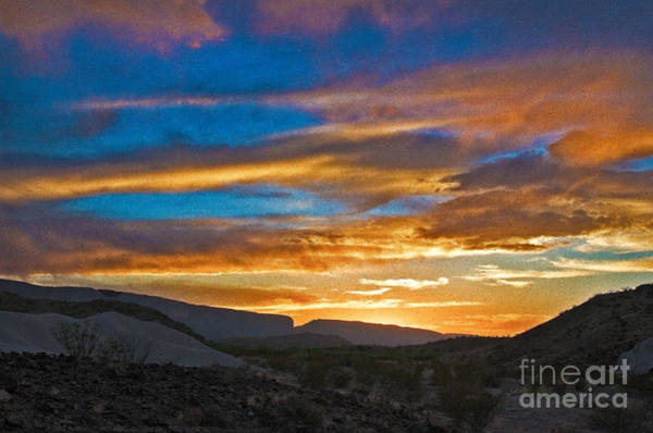 Photograph - Sunset Over Big Bend by Mae Wertz