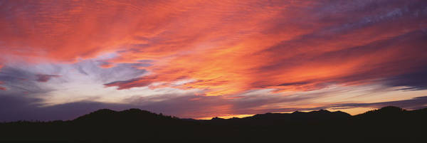 Silhoutte Photograph - Sunset Over Black Hills National Forest by Panoramic Images
