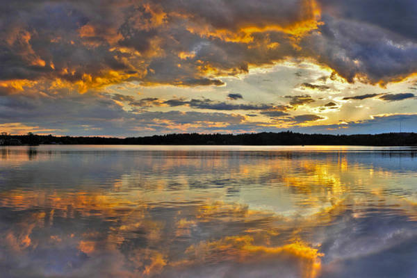 Photograph - Sunset Over Canobie Lake by Sebastien Coursol