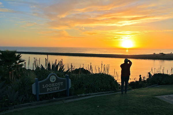 Roller Blades Photograph - Sunset Over Corona Del Mar by Harald Vaagan