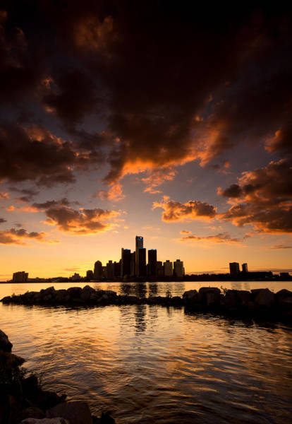 Wall Art - Photograph - Sunset Over Detroit by Cale Best