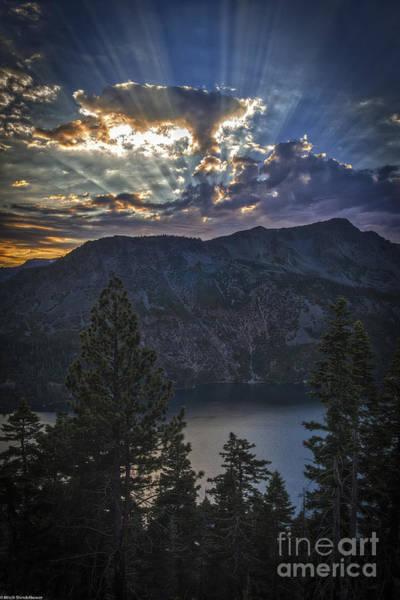 Fallen Leaf Lake Photograph - Sunset Over Fallen Leaf Lake by Mitch Shindelbower