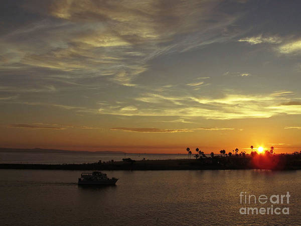 Photograph - Sunset Over Jetty Point by Kelly Holm