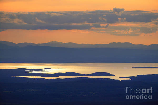 Wall Art - Photograph - Sunset Over Lake Champlain by Don Landwehrle