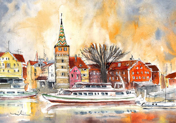 Painting - Sunset Over Lindau On Lake Constance by Miki De Goodaboom