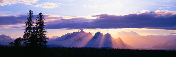 Escarpment Photograph - Sunset Over Mount Mckinley, Alaska by Panoramic Images