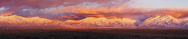 Sangre De Cristo Photograph - Sunset Over Mountain Range, Sangre De by Panoramic Images