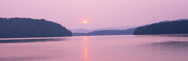 Peacefulness Photograph - Sunset Over Mountains, Lake Chatuge by Panoramic Images