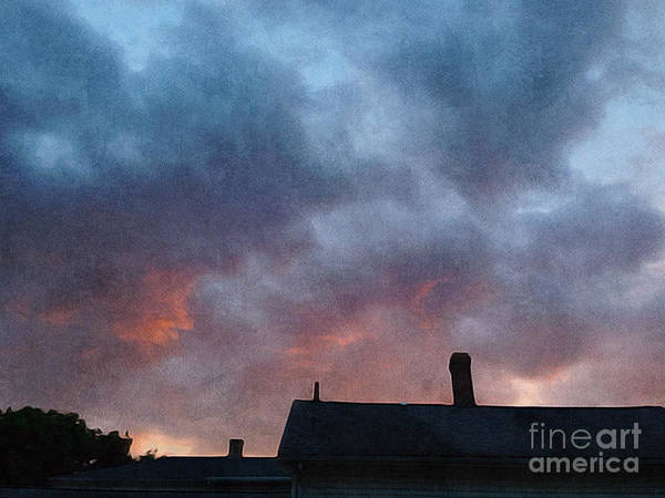 Wall Art - Photograph - sunset over Northampton  by HD Connelly