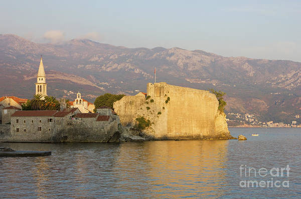 Budva Photograph - Sunset Over Old Town Budva In Montenegro by Kiril Stanchev