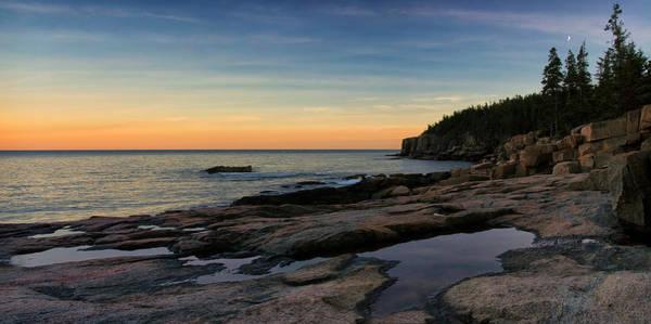Sunset Over Otter Cliffs Art Print