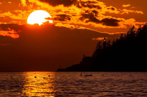 Photograph - Sunset Over Point Atkinson Lighthouse by Alexis Birkill