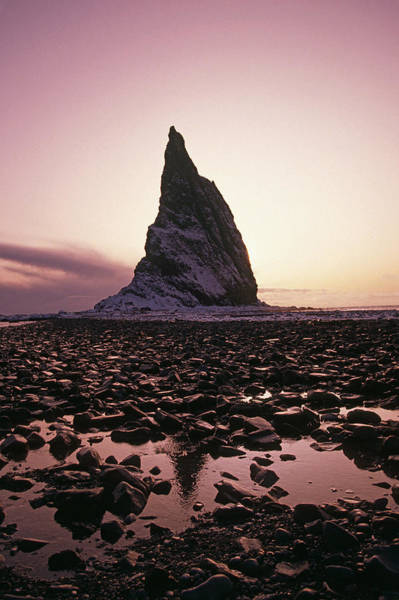 Gulf Of Alaska Photograph - Sunset Over Rock Kayak Island Se Alaska by John Hyde