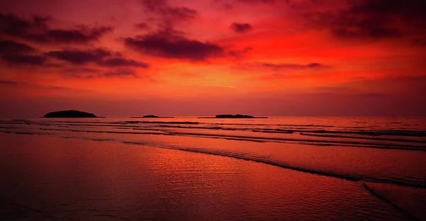Kibbutz Photograph - Sunset Over Sea, Kibbutz Maagan by Photostock-israel