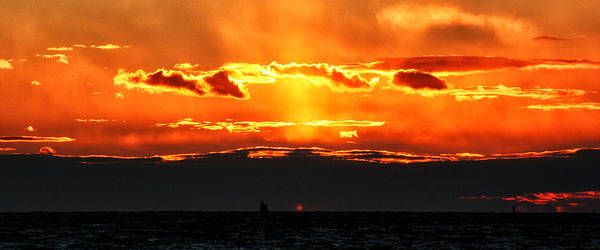 Photograph - Sunset Over Sound by William Selander