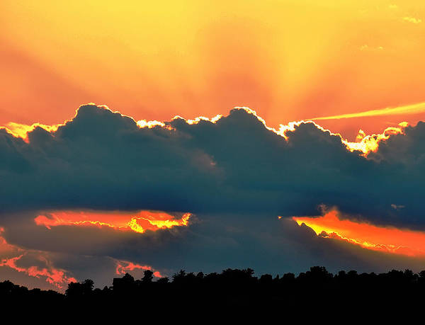 Digital Art - Sunset Over Southern Ohio by Chris Flees