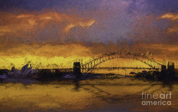 Wall Art - Photograph - Sunset Over Sydney Harbour A Turneresque View by Sheila Smart Fine Art Photography