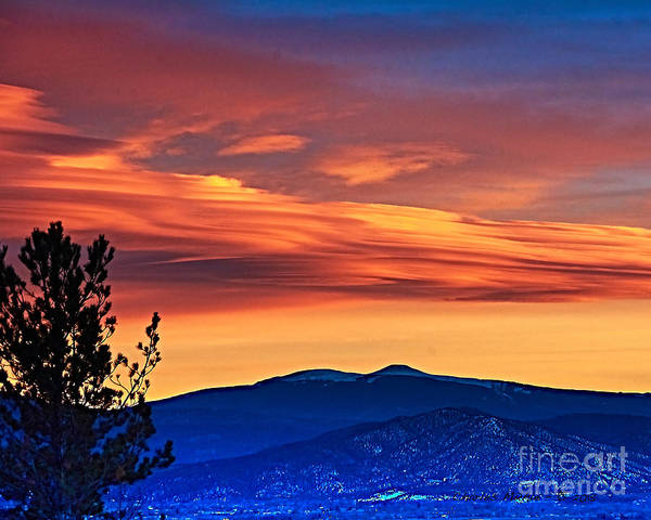Photograph - Sunset Over Taos by Charles Muhle