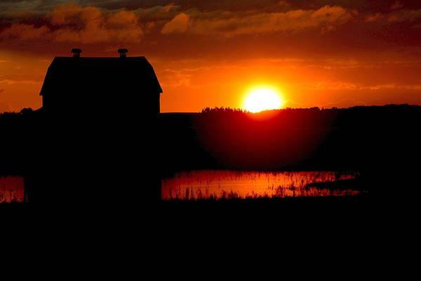 Photograph - Sunset Over The Barn by David Matthews