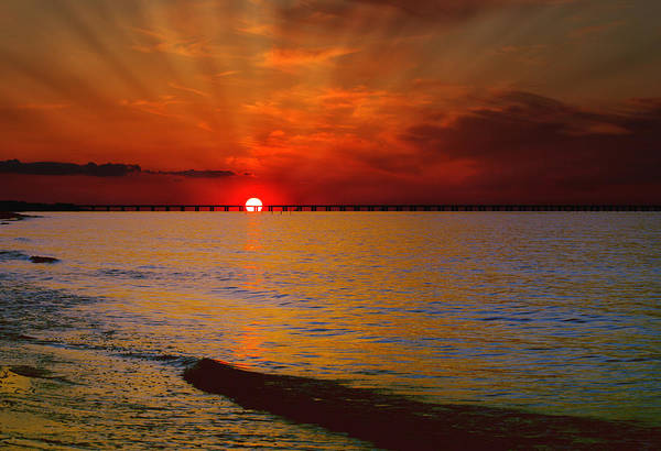 Photograph - Sunset Over The Bay II by Pete Federico