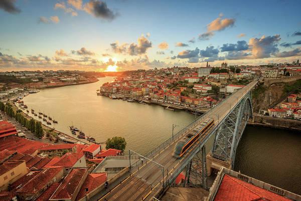 Douro Wall Art - Photograph - Sunset Over The Beautiful City Of Porto by Patrik Bergström
