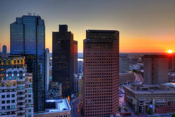 Photograph - Sunset Over The Boston Skyline by Joann Vitali