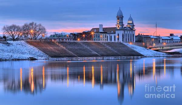 Lock Haven Wall Art - Photograph - Sunset Over The Clinton County Courthouse by Adam Jewell