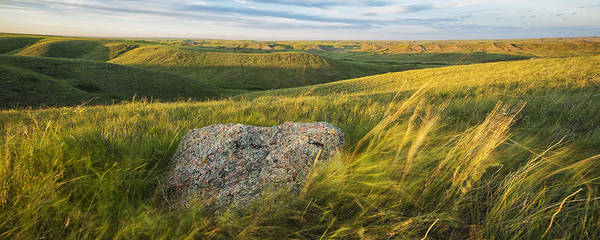 Glacial Erratic Photograph - Sunset Over The Coulees And Buttes Of by Robert Postma