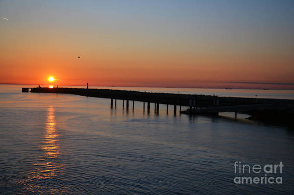 Photograph - Sunset Over The English Channel by Scott D Welch