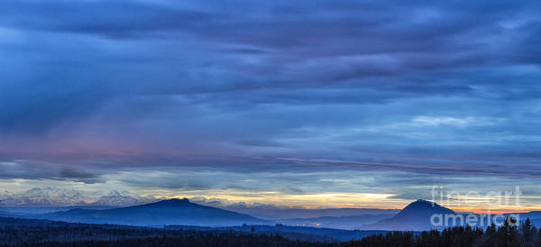 Photograph - Sunset Over The Alps by Bernd Laeschke