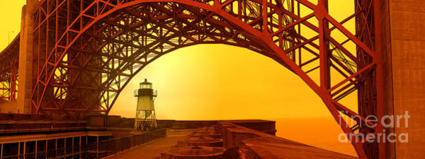 Photograph - Sunset Over The Golden Gate Bridge by Joe Lach