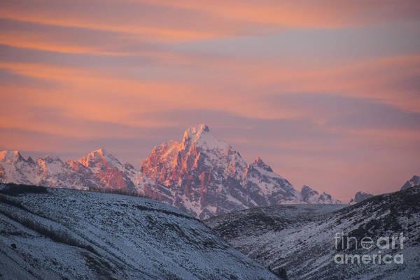 Photograph - Sunset Over The Grand Tetons by Juli Scalzi