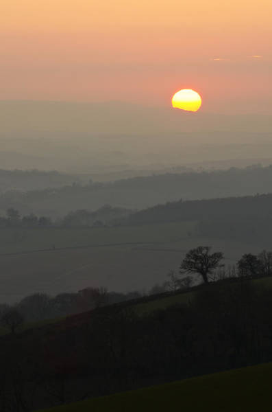 Photograph - Sunset Over The Hills by Pete Hemington