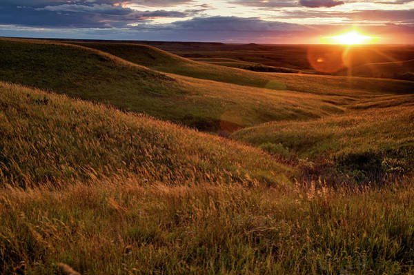 Photograph - Sunset Over The Kansas Prairie by Jim Richardson