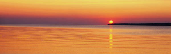 Wall Art - Photograph - Sunset Over The Lake Superior, Apostle by Panoramic Images