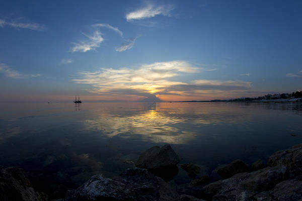 Photograph - Sunset Over The Mediterranean Sea by Tony Mills